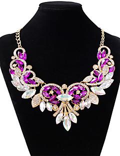 Femme Collier court /Ras-du-cou Goutte Imitation de diamant Alliage Mode Blanc Violet Rouge Bijoux Pour Mariage Soirée 1pc