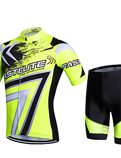 Fastcute® Cykeltrøje og shorts Dame Herre Børn Unisex Kort Ærme Cykel Åndbart Hurtigtørrende Fugtpermeabilitet 3D Måtte Svedreducerende