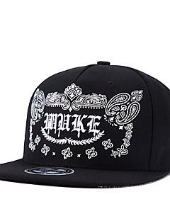 Men Women Hip Hop Black Floral Kidney Letter Embroidery Street Dance Baseball Caps