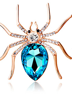 naisten muoti persoonallisuus söpö iso hämähäkki rintakoru Crystal timantti hieno rintakoru koruja lahjaksi