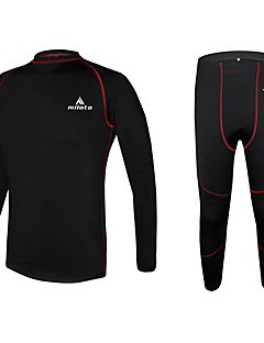Miloto® Cycling Base Layer Men's Long Sleeve BikeThermal / Warm / Quick Dry / Fleece Lining / Moisture Permeability / Compression /