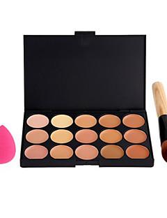 15 Correcteur/Contour+Correcteur+Bases pour Lèvres+Houppette/Eponge Pinceaux de Maquillage Humide VisageCouverture Correcteur Tonalité