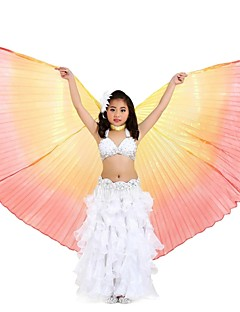 Dance Accessories Belly Dance Isis Wings Children's Performance Polyester Pleated 1 Piece Orange