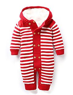 Baby Anzug & Overall-Lässig/Alltäglich Gestreift Baumwolle Winter Blau / Braun / Rot