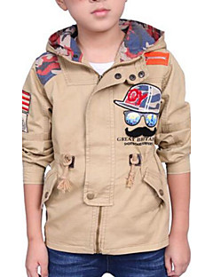 Boy's Casual/Daily Embroidered Jacket & Coat,Cotton Spring / Fall Brown / Green / Orange