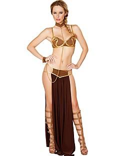 Косплэй Kостюмы Сказка богиня Египетские костюмы Косплей из фильмов Золотой Однотонный Кофты Юбки пояс Хэллоуин Рождество Новый год