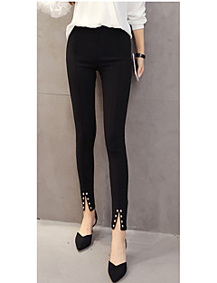Women Metallic Legging,Cotton