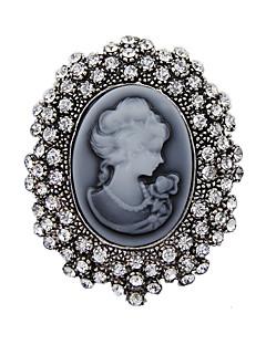Moda kristalno starinski srebrni vintage broš igle nakit kraljica rhinestone broševi