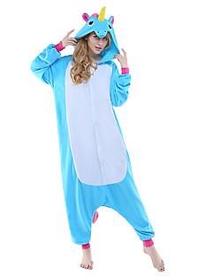 Kigurumi Pyjamas New Cosplay® Pegasus Unicorn Trikot/Heldragtskostumer Festival/Højtider Nattøj Med Dyr Halloween Blå Patchwork