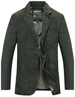 Men's Solid Casual Blazer,Cotton Long Sleeve Multi-color