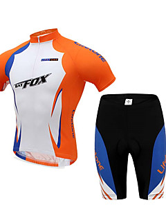 BATFOX® Cycling Jersey with Shorts Men's Short Sleeve BikeBreathable / Quick Dry / Ultraviolet Resistant / Dust Proof / Anti-Eradiation /