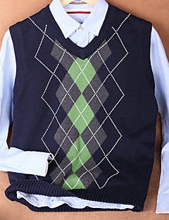 Men's Print Casual Vest,Cotton Sleeveless Black / Blue / Purple / White / Gray