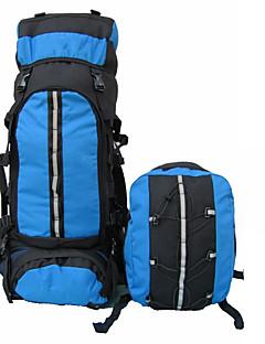 80 L batoh Outdoor a turistika / Lezení Outdoor Voděodolný / Všitá taška na konvici / lahev Modrá Nylon