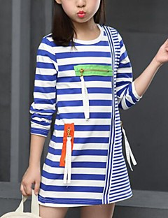 Girl's Casual/Daily Striped Blouse,Cotton Spring / Fall Black / Blue