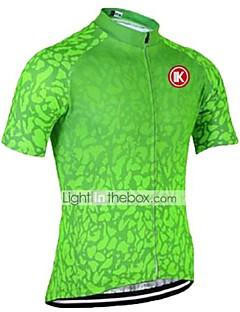 KEIYUEM חולצת ג'רסי לרכיבה יוניסקס שרוול קצר אופנייםנושם ייבוש מהיר עמיד אולטרה סגול רוכסן קדמי נגד חשמל סטטי כיס אחורי נגד החלקה תומך