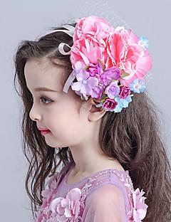 Menina das Flores Tecido / Rede Capacete-Casamento / Ocasião Especial Flores / Véus de Rede 1 Peça
