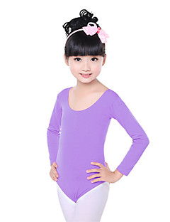 Ballet Dresses Children's Training Cotton Ruched 1 Piece Long Sleeve Natural Kid's Dance Costumes