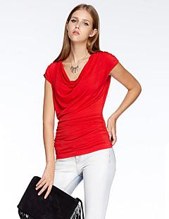 Herz Soul® Damen Rundhalsausschnitt Kurze Ärmel T-Shirt Rot-10A1BS8582