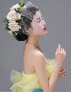 Ženy Síť Přílba-Svatba Zvláštní příležitost francouzský závoj Jeden díl