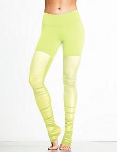 calças de yoga Calças Respirável / Elástico Natural Stretchy Wear Sports Amarelo / Rosa / Preto / Azul / Roxo / roxo claro Unissexo