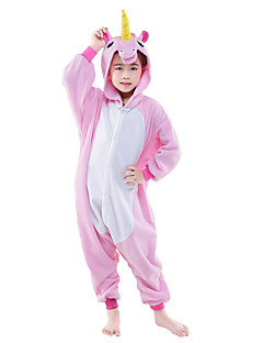 Kigurumi Pajamas Flying Horse Leotard/Onesie Festival/Holiday Animal Sleepwear Halloween Pink Blue Solid Polar Fleece Kigurumi For Kid