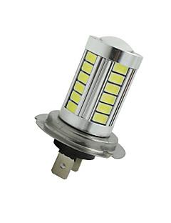 2pcs super lumineux h7 33 SMD 5630 LED voiture brouillard phares conduite ampoule 12-24v blanc