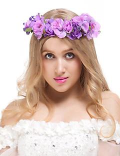 Valdler Exquisite Camellia Berries Flower Crown Headband with Adjustable Ribbon
