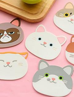 Silicone Pyöreä Placemats / Coasters
