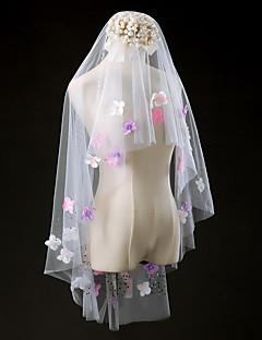 Wedding Veil One-tier Elbow Veils Cut Edge Tulle Ivory