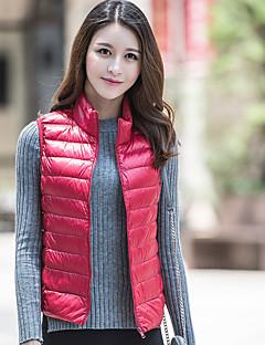 Damen Daunen Mantel,Standard Einfach Lässig/Alltäglich Solide-Polyester Baumwolle ÄrmellosRosa / Rot / Weiß / Schwarz / Grau / Grün /