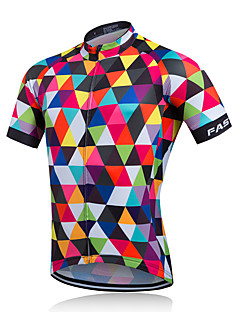 Fastcute® Cycling Jersey Men's Short Sleeve Bike Breathable / Quick Dry / Sweat-wicking Jersey Coolmax ClassicSpring / Summer /