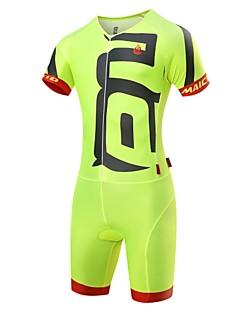 MALCIKLO® חולצת ג'רסי ומכנס קצר לרכיבה לגברים שרוול קצר אופנייםנושם / ייבוש מהיר / רוכסן קדמי / לביש / חדירות גבוהה לאוויר (מעל 15,000