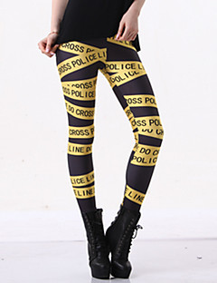 Damer Trykt mønster Legging,Polyester