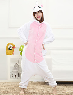 Unisex Cashmere / Polyester Cute Cartoon Onesie Pajama Winter Thick Sleepwear Pink / Blue