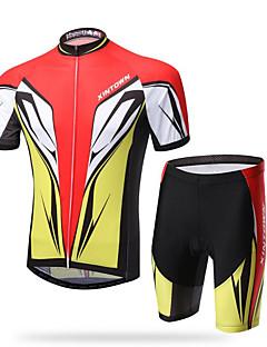 XINTOWN® Cykeltrøje og shorts Herre Kort Ærme Cykel Åndbart / Hurtigtørrende / Ultraviolet Resistent / 3D Måtte / Svedreducerende