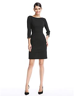 ts couture® kokteyl parti elbise kılıf / sütun kısa / mini polyester kepçe