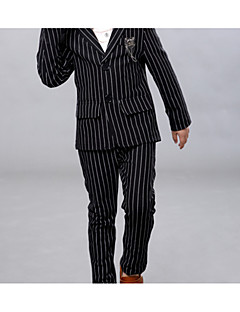 Boy's Casual/Daily Striped Suit & BlazerCotton Spring / Fall Black / White