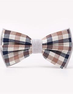 Masculino Gravata Borboleta Vermelho / Preto / Branco / Azul / Cinzento,Vintage / Festa / Trabalho / Casual Estampado AlgodãoPrimavera /