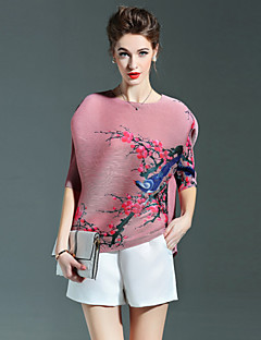 Liebe Falten Frauendruck blau / rosa / grau / lila T-Shirt mit Rundhalsausschnitt ½ Länge Ärmel