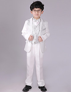 Uniform Cloth Ring Bearer Suit - 6 Pieces Includes  Jacket / Shirt / Vest / Pants / Waist cummerbund