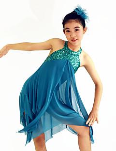 Danse classique Robes Femme Enfant Spectacle Elasthanne Polyester Au drapée 2 Pièces Sans manche Taille moyenne Robe Coiffures