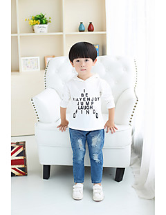 Boy's Going out Solid Suit & BlazerCotton Spring / Fall Black / White