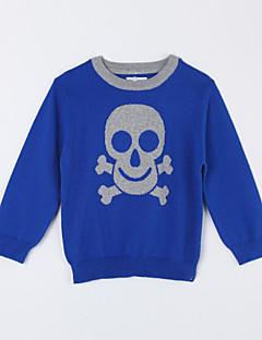 Casual/Dagelijks-Effen-Katoen-Herfst-Boy's-Trui & Vest-Blauw