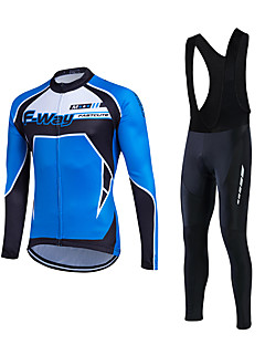 Fastcute® Kerékpáros dzsörzé kantáros nadrággal Férfi Hosszú ujj BikeLégáteresztő / Könnyű anyagok / 3D-s párna / Back Pocket / Upijanje