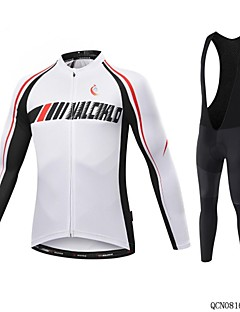 MALCIKLO white Cycling Jerseys Wither Thermal Fleece warm Bicycle clothing Long Sleeve mtb Cycling Clothing Bike Wear