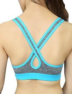 Women's Sexy Racerback Sports Bra Wireless Push Up Quick Dry Underwear Fitness Running Yoga Tops