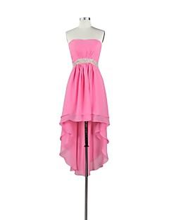 Asymmetrical Chiffon Bridesmaid Dress - Sexy A-line Sweetheart with Crystal Detailing / Sash / Ribbon / Side Draping