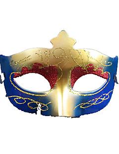 Haloween Figuren / Maskerade Prinzessin Fest/Feiertage Halloween Kostüme Weiß / Gelb Patchwork / Druck Maske Halloween UnisexTechnisches