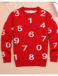 Boy's Casual/Daily Print Sweater & CardiganCotton Winter / Spring / Fall Black / Red / Yellow