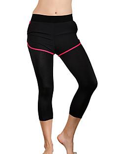 מכנסיים יוגה אימונית נושם חדירות גבוהה לאוויר (מעל 15,000 גרם) דחיסה נוח טבעי גמישות גבוהה בגדי ספורט ירוק אדום שחור פוקסיה לנשיםיוגה